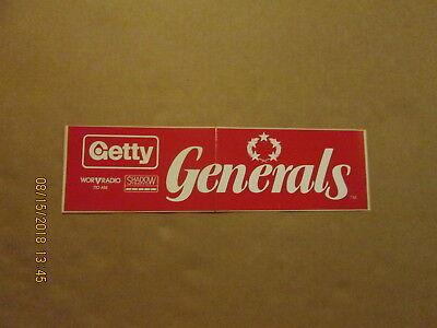 Football-other Qualified Usfl New Jersey Generals Vintage Defunct 1980's Getty Football Bumper Sticker Sports Mem, Cards & Fan Shop