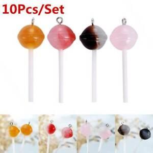 10Pcs//Set Resin Lollipop Charms Pendant Jewelry DIY Earring Making Craft