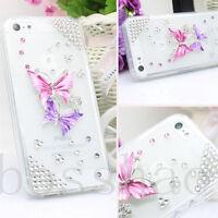 Glitter Luxury Bling lover butterflys Diamond Soft TPU Case Cover for LG