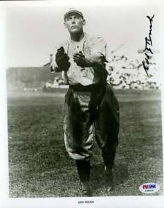 EDD ROUSH SIGNED PSA/DNA CERTIFIED 8X10 PHOTO AUTHENTICATED AUTOGRAPH