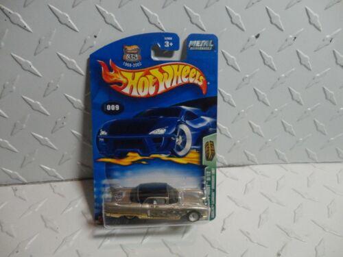 2003 Hot Wheels Treasure Hunt #9 Gold 1957 Cadillac Eldorado Brougham