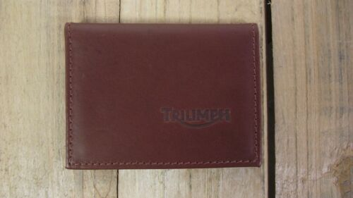 Triumph logo Brown Leather credit card size wallet ID holder IT126 licence