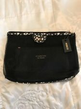 2 Mimco Mesh Cosmetic Bags  Set Black Spotty Bubbles The Adventure Is Mine Nwt