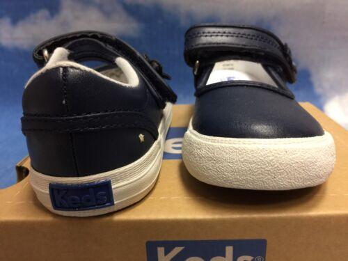 Keds Kids Ella Hook /& Loop Leather Mary Janes Sneaker Toddler Size 5.5 to 11