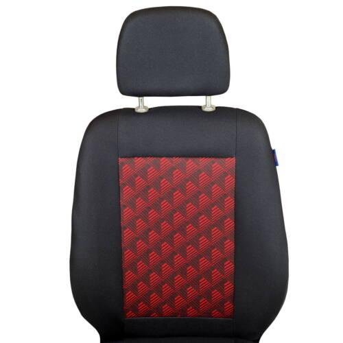 Noir-Rouge Sitzbezüge pour on TGE Siège-auto référence Set 1+2