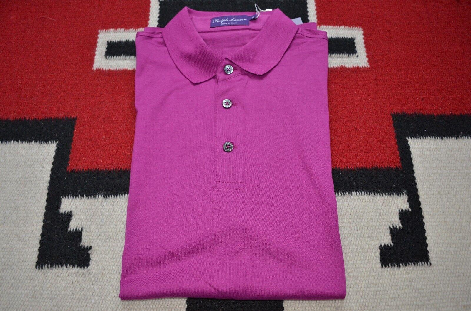 Ralph Lauren Purple Label Made in  100% Soft Cotton Summer Polo Shirt