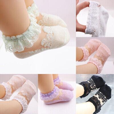 Kids Frilly Breathable Socks Lace Girls Ankle Cotton Socks Socks Baby