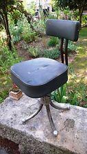 Meuble Métier Vintage Chaise à vis Usine Atelier Métal Skaï Industrielle 1950