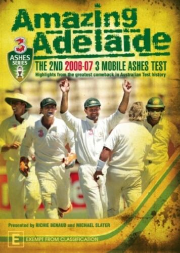 1 of 1 - Amazing Adelaide: The 2nd 2006/7 Mobile Ashes Test (DVD)