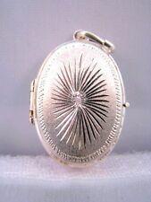 Art Deco 800 Silber Medaillon Anhänger zum Öffnen für 2 Fotos