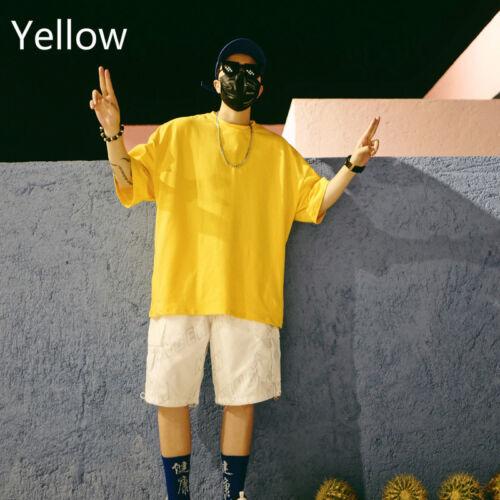 Men Oversized T-shirt Half Sleeve Summer Loose Casual Hippie Shirt Tops Blouse