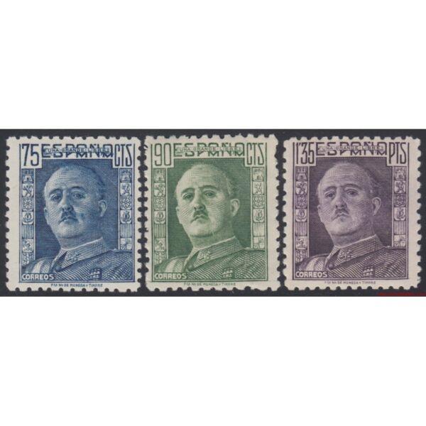 100% Vrai España Spain 999/1001 1946/1947 General Franco Mh Promouvoir La Santé Et GuéRir Les Maladies