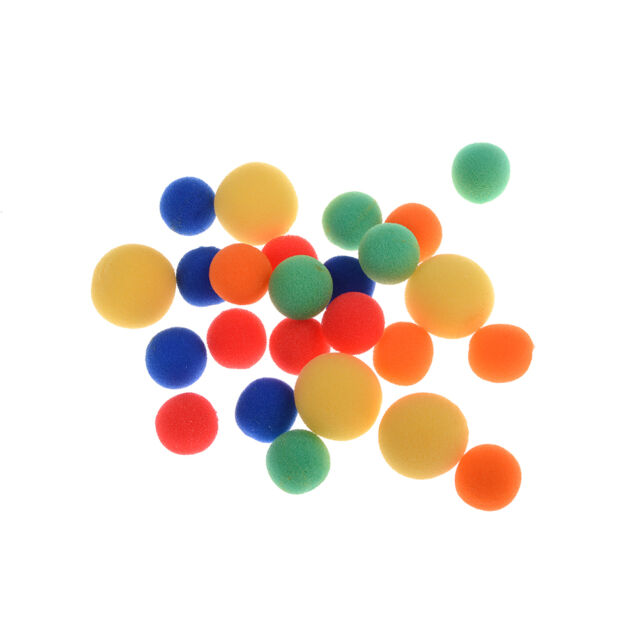 5x Finger Magic Props Sponge Ball Close-UP Street Illusion Stage Comedy Trick WG