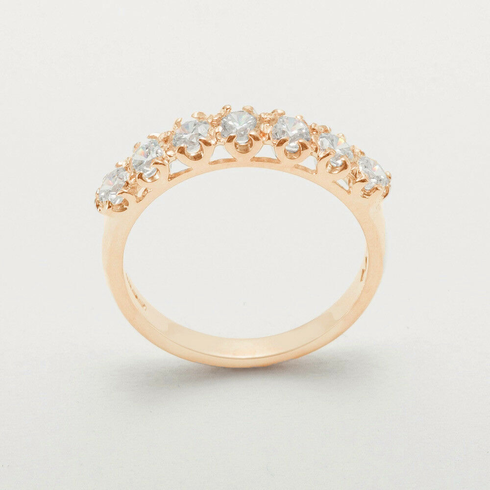 14k pink gold Cubic Zirconia Womens Eternity Ring - Sizes 4 to 12