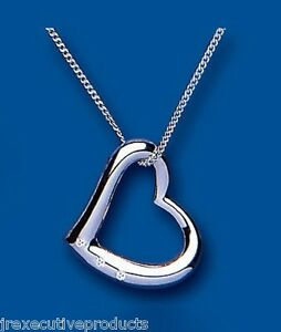 Heart pendant sterling silver floating heart pendant chain 20 x image is loading heart pendant sterling silver floating heart pendant amp mozeypictures Image collections