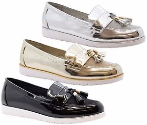 d4d5826d2622b Image is loading Ladies-Womens-Flats-Casual-Slip-On-Tassel-Loafers-