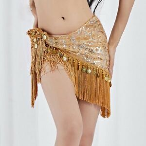 ca22d5891 Egypt 2019 Belly Dance Hip Scarf Wrap Belt Skirt Tassels Gold/Silver ...