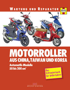 Motorroller-aus-CHINA-TAIWAN-und-KOREA-Reparaturbuch-Reparaturanleitung-Wartung