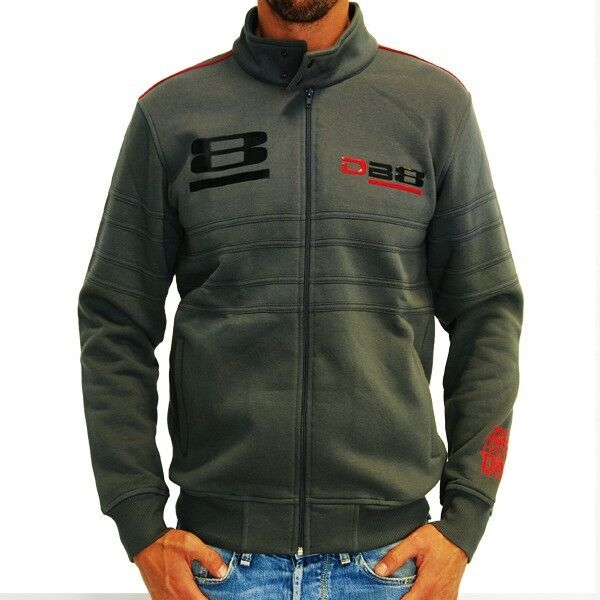 New Official Bimota Mans Grey Full Zip Fleece