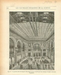 Salle du Comptoir d'Escompte de Paris éclairage à l'arc voltaïque GRAVURE 1884 - France - EBay Salle du Comptoir national d'Escompte de Paris éclairage l'arc voltaïque et la pile chromate de potasse/Hall of Paris Discount of Counter(Comptoir national d'escompte de Paris CNEP) lighting in the voltaic arc and potassium chromate cell A - France