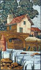 "52"" Handmade Natural Scene Tuscan Mosaic Marble Landscape Mural Art Stone Decor"