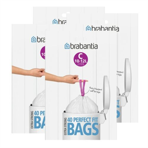 C Brabantia Müllbeutel Spenderverpackung 4er Pack 40 Mülltüten 10-12 Liter