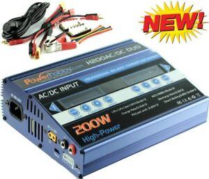 Powerhobby H200 Ac/dc 1s 2s 3s 4s 5 S 6s 200w Fast Double Lipo Chargeur Bleu