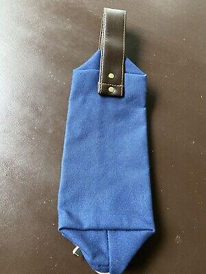 La Rocca Nappa Soft Sheep Supple Leather Zipper Pipe Tobacco Stash Pouch Brown