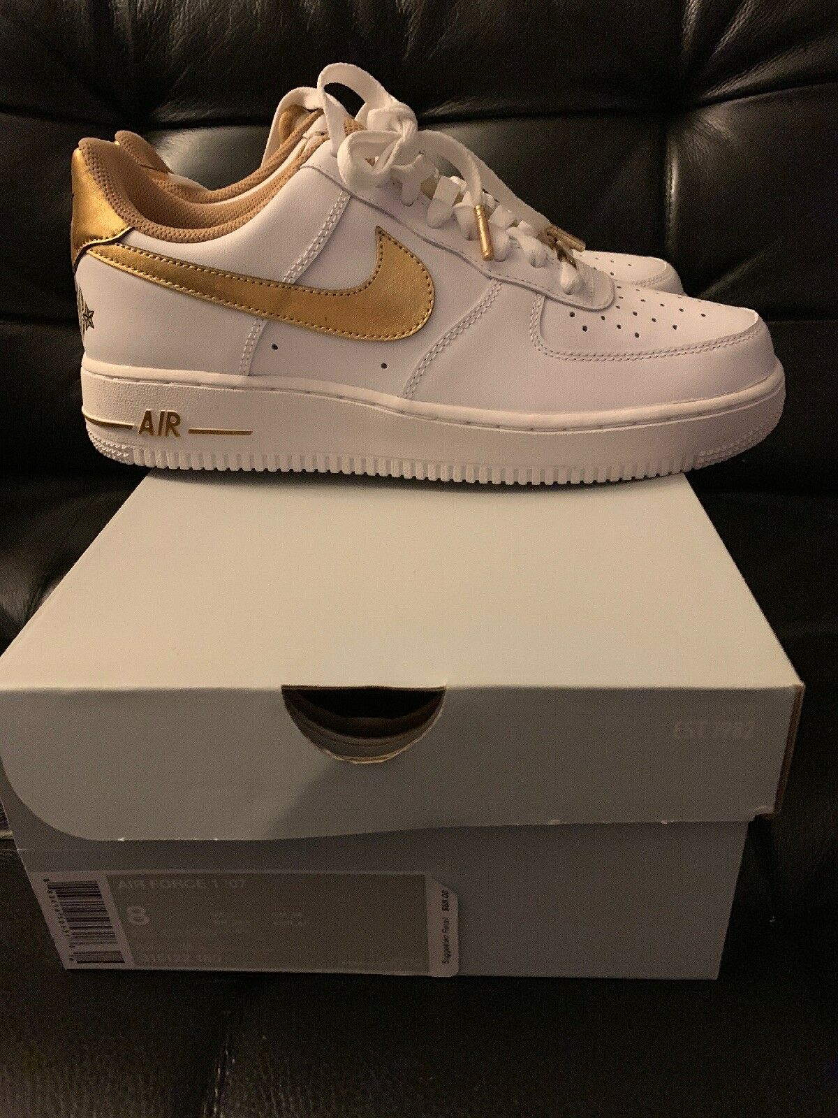 Nike Air Force 1 Low LA Los Angeles Lakers All Star Men's Sz 8 shoes 315122 180