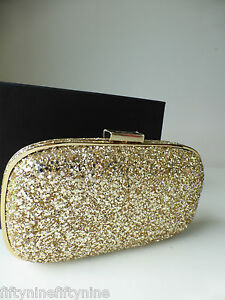 NEW AUTHENTIC ANYA HINDMARCH MARANO 11 GOLD GLITTER Clutch Bag Boxed ... 561c452c911a