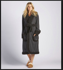 """NWT$195"" ""UGG Australia Women's Duffield Deluxe Robe in Black Size-S"