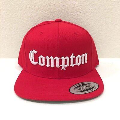 Compton Snapback Hat 3D Embroidery Cap Yupoong NWA Eazy E Adjustable Black White