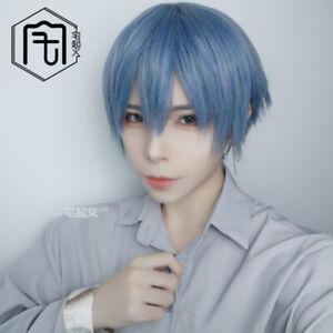 Handsome Sweet Harajuku Gothic Short Hair Straight Hair Man Blue Wig Fashion Ebay
