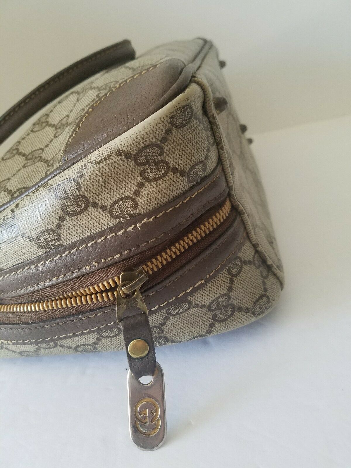 AUTHENTIC GUCCI GG MONOGRAM LEATHER/PVC DOCTOR BA… - image 11