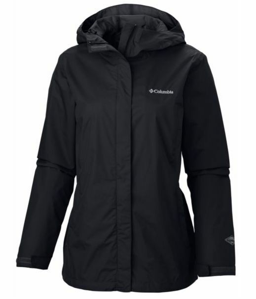 New Columbia womens Arcadia waterproof Omni Tech rain jacket Plus 1X 2X 3X Black