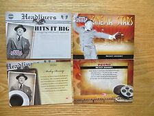 2007 DONRUSS AMERICANA MICKEY ROONEY 2 PROMO CARDS, HEADLINERS & CINEMA STARS