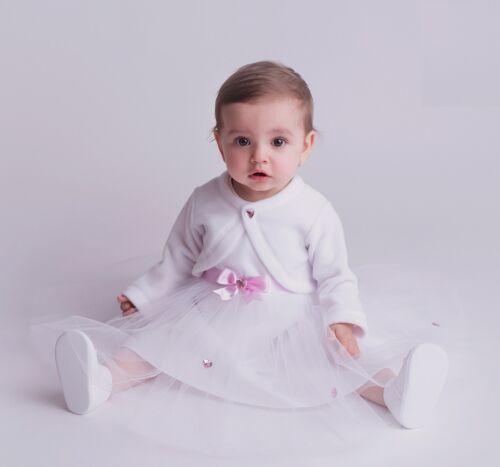Princesa taufkleid set 3 piezas cinta del pelo bolero 56-98 top calidad