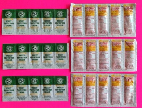 Lot 30 Insect Protection Cream /& Sunscreen Packets Fishing Survival Camping Hunt