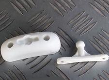 DOOR RETAINER PLASTIC WHITE CI etc CARAVAN CAMPER MOTORHOME BOAT
