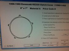 Kawasaki KX250  Clutch cover Gasket  1988 1989