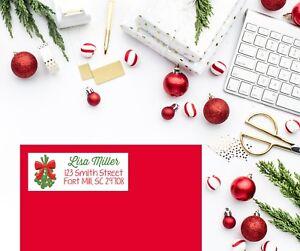 Christmas Return Address Labels.Details About Mistletoe Christmas Return Address Labels Holiday Return Address Label