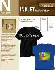 Neenah 3g Jet Opaque Heat Transfer Paper For Dark Colors 85x11 10 Sheets