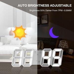 Modern-3D-LED-Digital-Wall-Clock-Alarm-Clock-Snooze-12-24-Hour-Display-USB