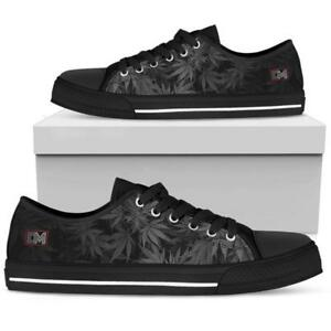 Details zu Dank Master Men Shoes custom black weed leaf marijuana cannabis low top sneakers