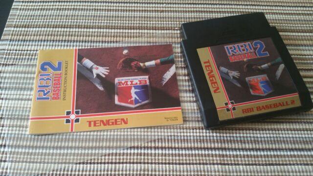 RBI R.B.I. BASEBALL 2 Nintendo NES With Book / Collectors Condition