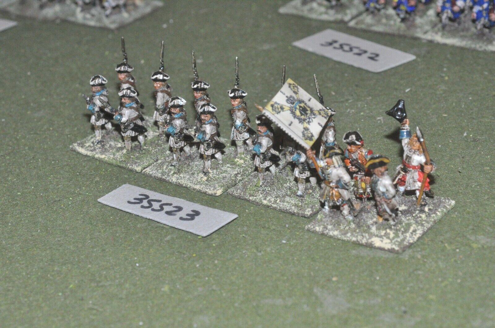 25mm marlburian   austrian - regiment 16 figures - inf (35523)
