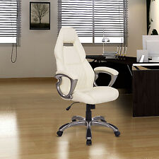 Office Chair Ergonomic Swivel Rocking High Back PU Executive Computer Task Desk