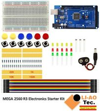Starter Kit Mega 2560 R3 Mini Breadboard Led Jumper Wire Button For Arduino