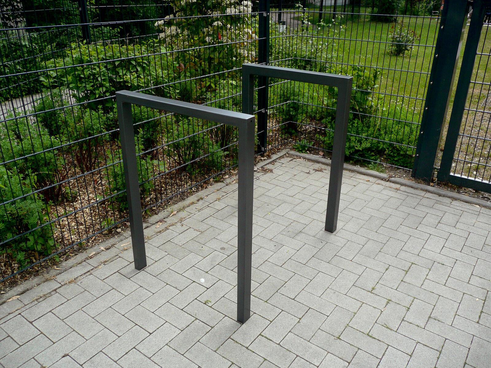 Fahrradanlehnbügel aus Vierkantrohr 60x60 mm verzinkt zum Einbetonieren Fahrrad