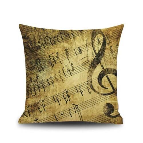 Musical Rhythm Artwork Bedding Set of Duvet Cover Music Notes Pillowcase BT